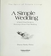Cover of: A simple wedding by Sharon Hanby-Robie