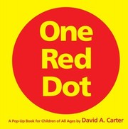 Cover of: One red dot by David A. Carter