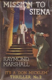 Cover of: Mission to Siena by Raymond Marshall, James Hadley Chase