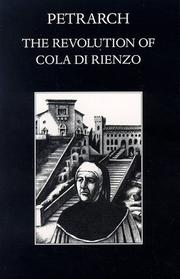 Cover of: The revolution of Cola di Rienzo by Francesco Petrarca