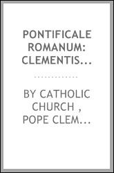 Pontificale romanum by Catholic Church