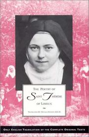 Cover of: The Poetry of Saint Therese of Lisieux by Saint Therese of Lisieux