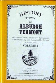 Cover of: History town of Alburgh, Vermont by Allen L. Stratton