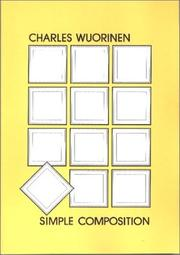 Cover of: Simple composition by Charles Wuorinen