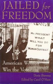 Cover of: Jailed for Freedom by Doris Stevens