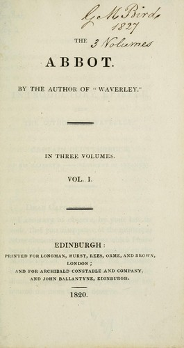The Abbot by Sir Walter Scott