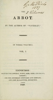 Cover of: The Abbot | Sir Walter Scott