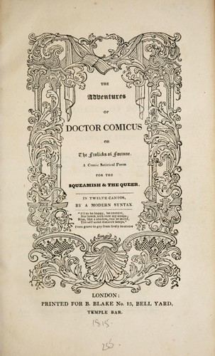 The adventures of Doctor Comicus by Combe, William