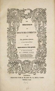 Cover of: The adventures of Doctor Comicus by Combe, William