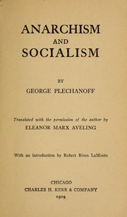 Cover of: Anarchisme et socialisme by Georgiĭ Valentinovich Plekhanov