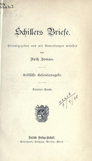 Cover of: Briefe by Friedrich Schiller