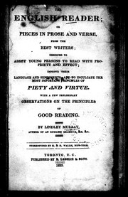 Cover of: The English reader, or, Pieces in prose and verse from the best writers by Murray, Lindley