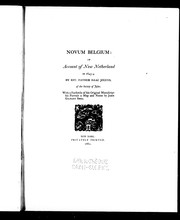Cover of: Novum Belgium by Jogues, Isaac Saint