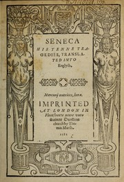 Cover of: Tragedies by Seneca the Younger