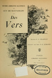 Cover of: Des vers by Guy de Maupassant