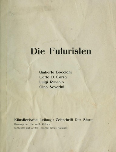 Die Futuristen by Herwarth Walden