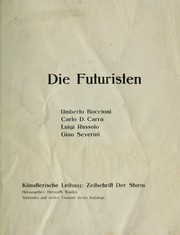 Cover of: Die Futuristen by Herwarth Walden