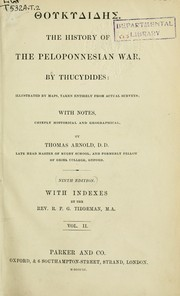 Cover of: History of the Peloponnesian War by Thucydides