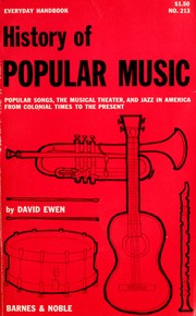 Cover of: History of popular music by David Ewen