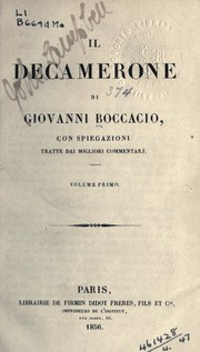 Cover of: Il Decamerone by Giovanni Boccaccio