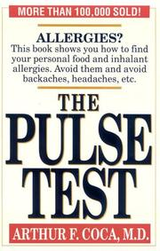 Cover of: The pulse test by Arthur Fernandez Coca