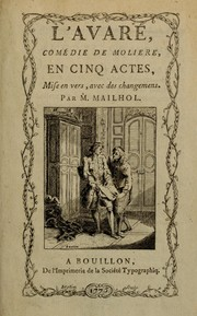 Cover of: L' avare by Molière