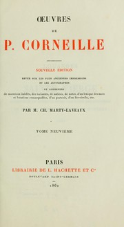 Cover of: Oeuvres de P. Corneille by Pierre Corneille