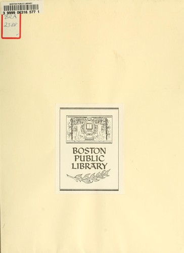 Plan for Boston by Boston Redevelopment Authority