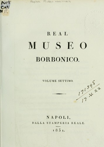 Real Museo borbonico by Naples. Museo nazionale