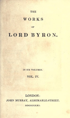 Works by Lord Byron