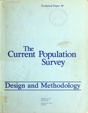 Cover of: The current population survey by United States. Bureau of the Census