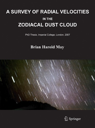 A survey of radial velocities in the zodiacal dust cloud by Brian Harold May