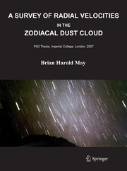 Cover of: A survey of radial velocities in the zodiacal dust cloud by Brian Harold May