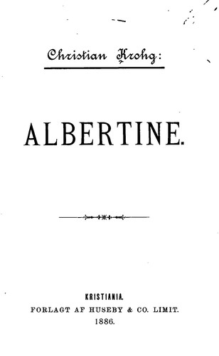 Albertine by Christian Krohg
