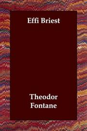 Cover of: Effi Briest by Theodor Fontane