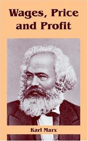 Cover of: Value, price and profit by Karl Marx