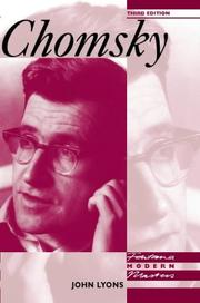 Cover of: Chomsky by Lyons, John