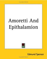Cover of: Amoretti by Edmund Spenser