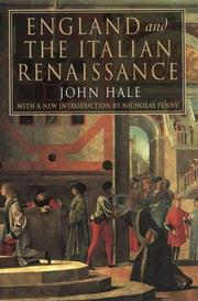 Cover of: England and the Italian Renaissance by John Rigby Hale