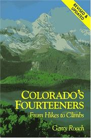 Cover of: Colorado's Fourteeners by Gerry Roach