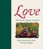 Cover of: The greatest thing in the world by Henry Drummond