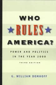 Cover of: Who rules America? by G. William Domhoff