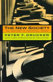 Cover of: The new society by Peter F. Drucker