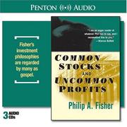 Cover of: Common Stocks and Uncommon Profits by Philip A. Fisher
