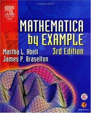 Cover of: Mathematica by example by Martha L. Abell