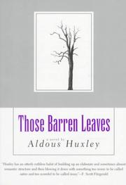 Cover of: Those barren leaves by Aldous Huxley