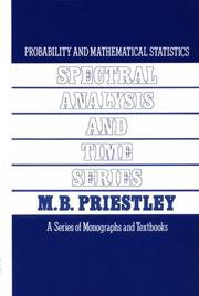 Cover of: Spectral Analysis and Time Series, Two-Volume Set, Volume 1-2 by M. B. Priestley