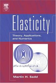 Cover of: Elasticity by Martin H. Sadd