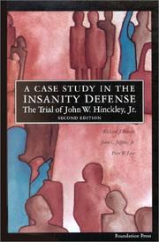 Cover of: A case study in the insanity defense by Richard J. Bonnie