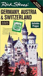 Cover of: Rick Steves&#39; Germany, Austria &amp; Switzerland 2003 by Rick Steves